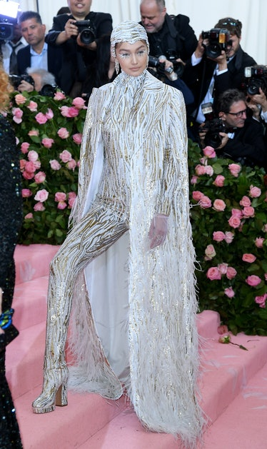 NEW YORK, NEW YORK - MAY 06: Gigi Hadid arrives for the 2019 Met Gala celebrating Camp: Notes on Fas...