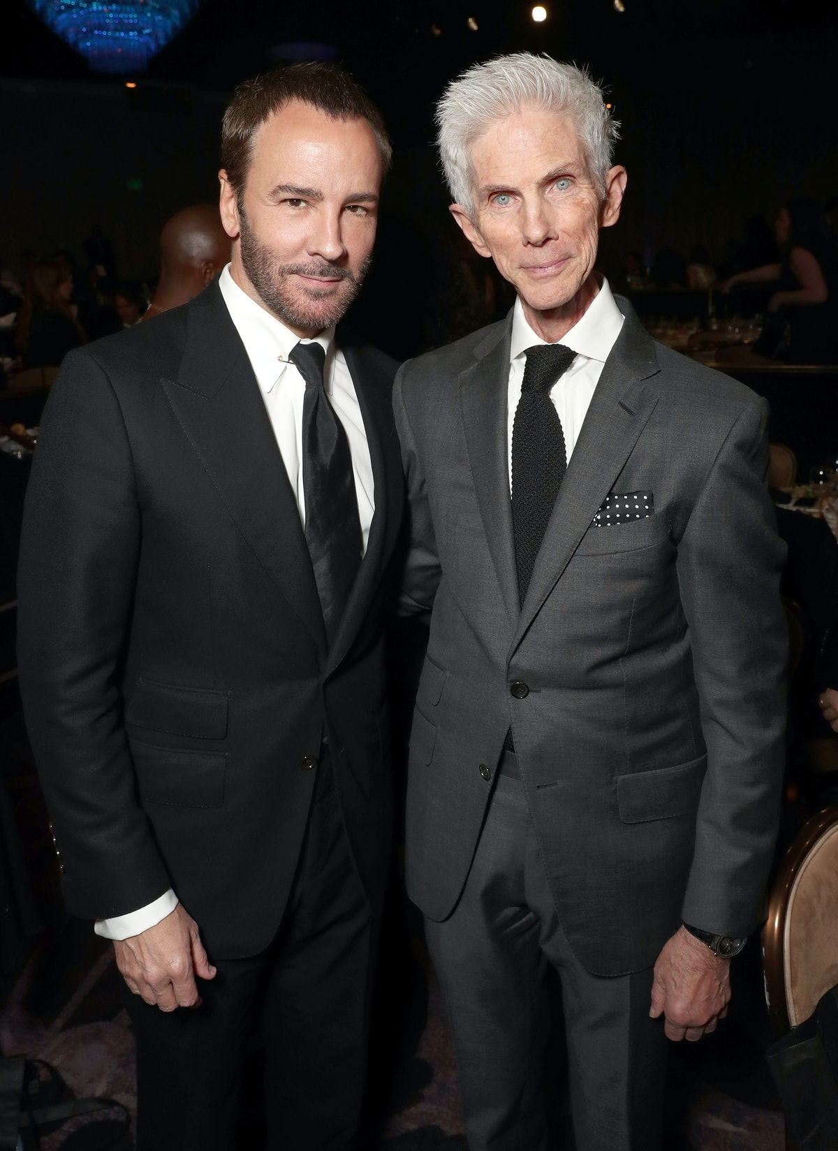 BEVERLY HILLS, CA - FEBRUARY 19:  Tom Ford and Richard Buckley attend the 2017 Writers Guild Awards ...