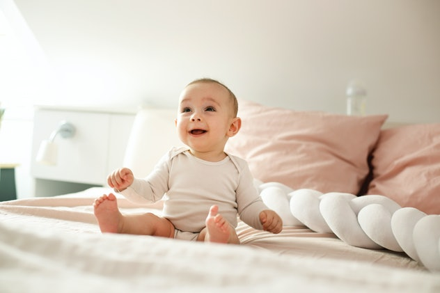 One baby name that means happy is Bliss.