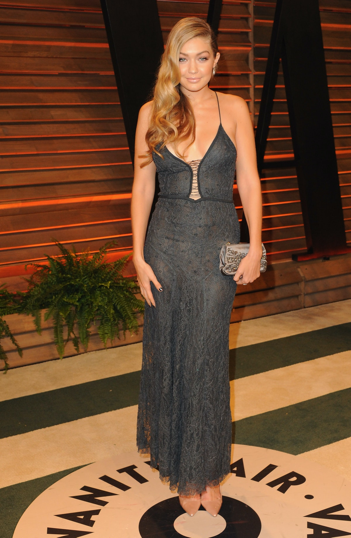 WEST HOLLYWOOD, CA - MARCH 03:  Model Gigi Hadid arrives at the 2014 Vanity Fair Oscar Party Hosted ...