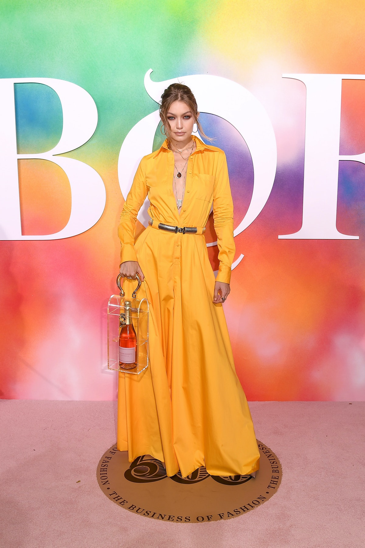 BROOKLYN, NY - SEPTEMBER 09:  Gigi Hadid attends the #BoF500 gala dinner during New York Fashion Wee...