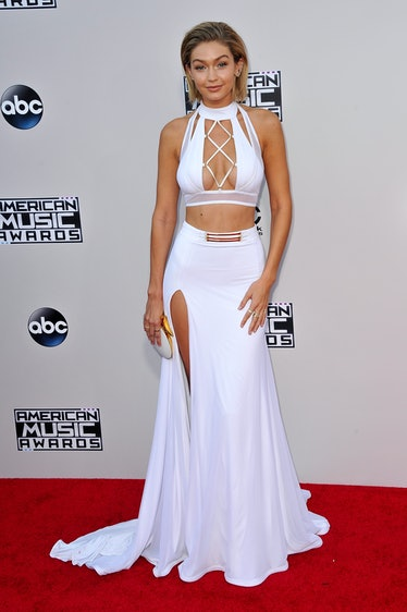 Model Gigi Hadid arrives at the 2015 American Music Awards at Microsoft Theater on November 22, 2015...
