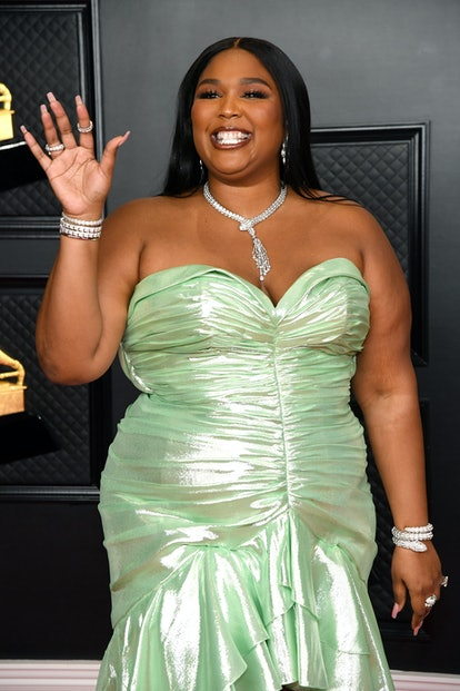 LOS ANGELES, CALIFORNIA - MARCH 14: Lizzo attends the 63rd Annual GRAMMY Awards at Los Angeles Conve...