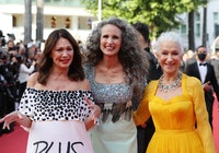 Iris Berben, Andie MacDowell and Helen Mirren arrive for the opening ceremony and the screening of t...