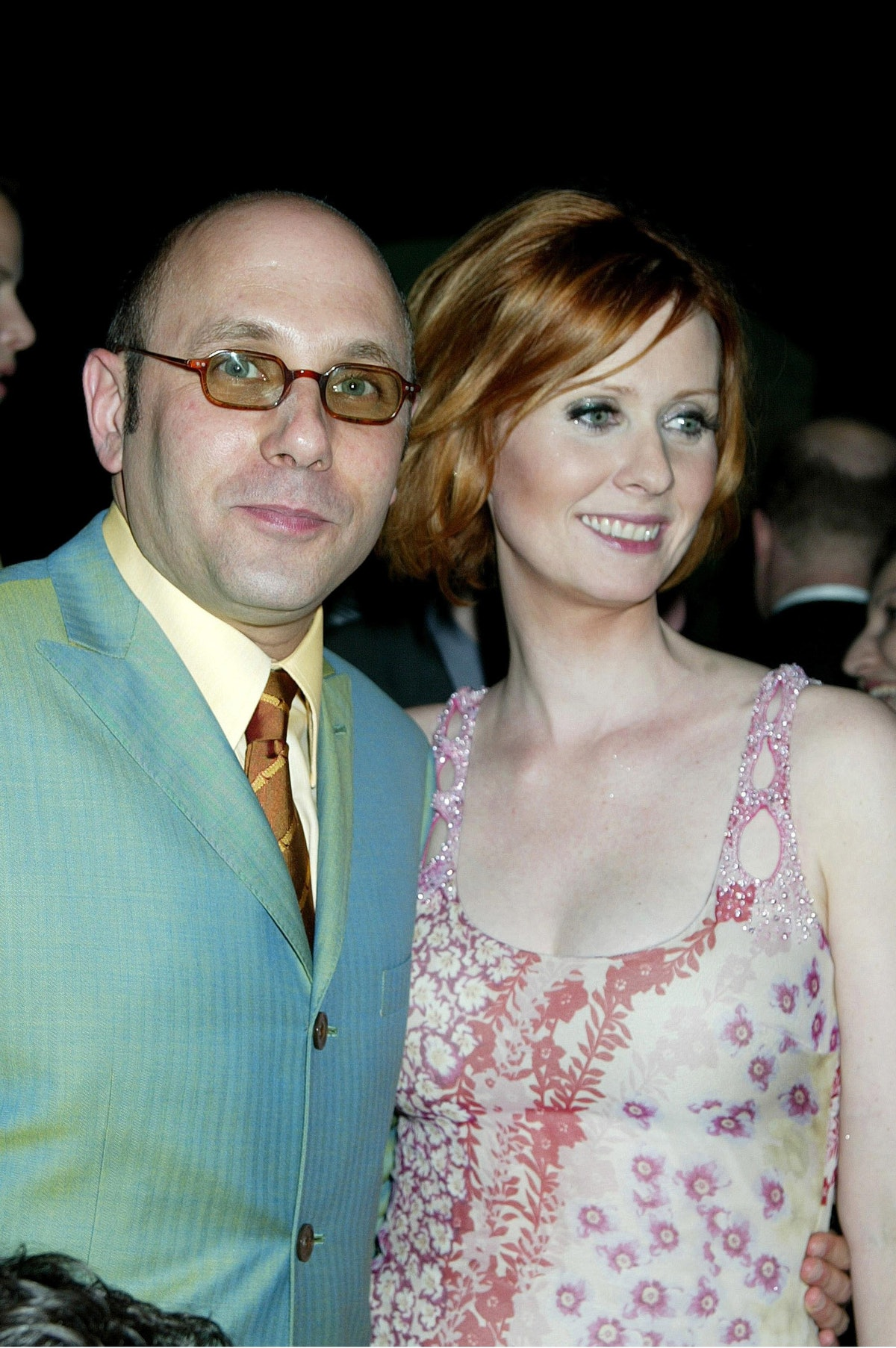 """Willie Garson, Cynthia Nixon during HBO's """"Sex and the City"""" Premiere, NYC at The American Museum of..."""