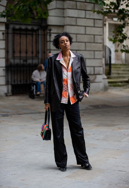 LONDON, ENGLAND - SEPTEMBER 20: Donna Wallace is seen outside Simone Rocha during London Fashion Wee...