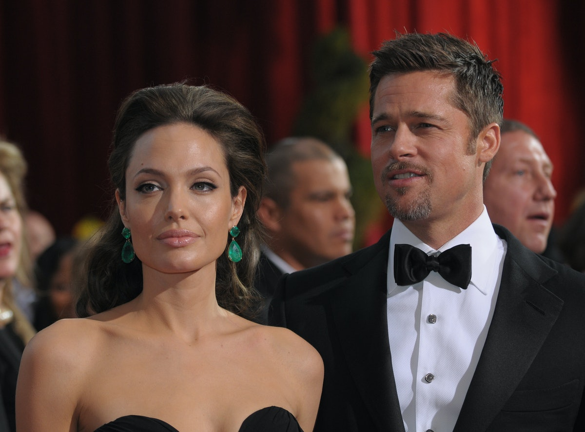 LOS ANGELES, CALIFORNIA - FEB 22: Angelina Jolie and Brad Pitt arrives to the 81st Annual Academy Aw...