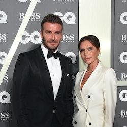 LONDON, ENGLAND - SEPTEMBER 03: David Beckham and Victoria Beckham attend GQ Men Of The Year Awards ...
