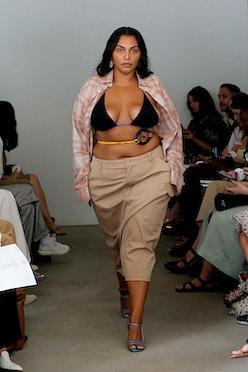 NEW YORK, NEW YORK - SEPTEMBER 08: A model walks the runway for Maryam Nassir Zadeh during NYFW: The...