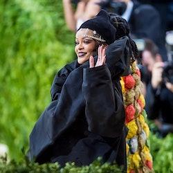 Rihanna attends the 2021 Met Gala at The Metropolitan Museum of Art on September 13, 2021.