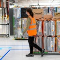 Amazon fulfillment center in Saint-Etienne-du-Rouvray (Normandy, northern France). (Photo by: Tesson...