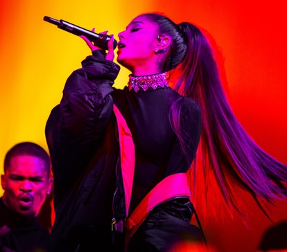 American pop singer Ariana Grande performs at Ziggo Dome as part of her Dangerous Woman Tour, Amster...