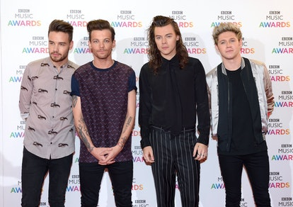 BIRMINGHAM, ENGLAND - DECEMBER 10:  Liam Payne, Louis Tomlinson, Harry Styles and Niall Horan of One...