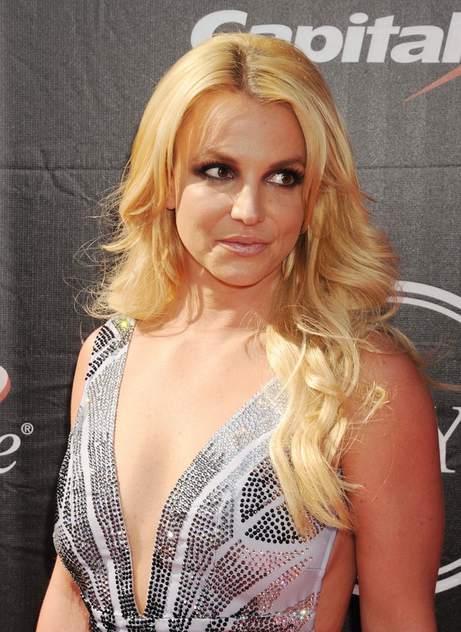 LOS ANGELES, CA - JULY 15: Singer Britney Spears arrives at the The 2015 ESPYS at Microsoft Theater ...