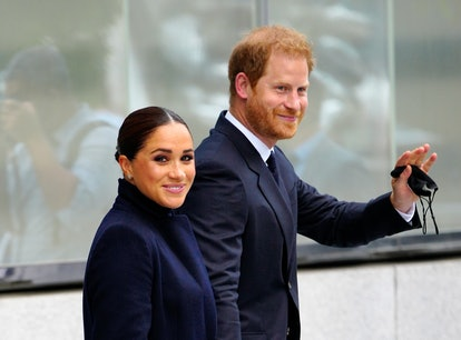 NEW YORK, NEW YORK - SEPTEMBER 23: Prince Harry and Meghan Markle, Duke and Duchess of Sussex visit ...