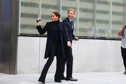NEW YORK, NY - SEPTEMBER 23: Prince Harry and Meghan Markle visit the One World Observatory as NY Go...