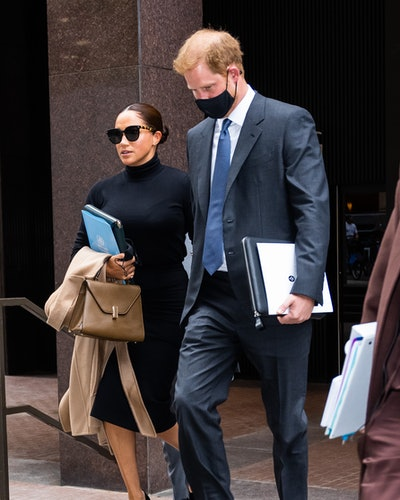Meghan Markle, Duchess of Sussex, and Prince Harry, Duke of Sussex, are seen in Midtown in New York ...