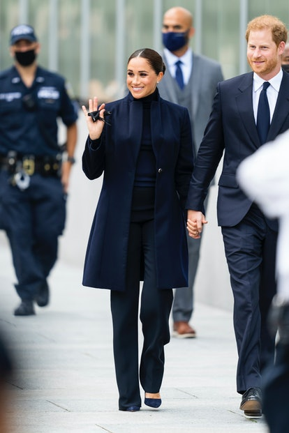 Meghan Markle, Duchess of Sussex, and Prince Harry, Duke of Sussex, are seen at the World Trade Cen...