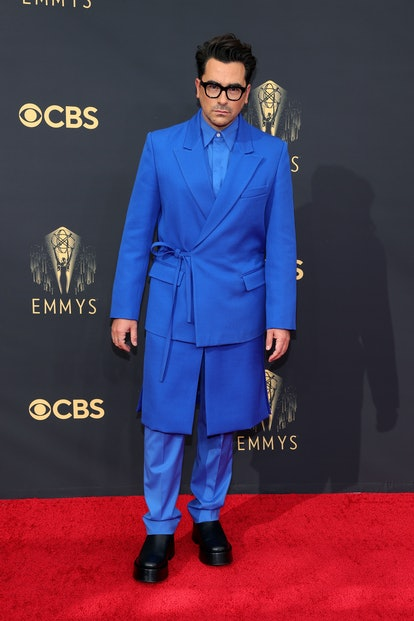 LOS ANGELES, CALIFORNIA - SEPTEMBER 19: Daniel Levy attends the 73rd Primetime Emmy Awards at L.A. L...