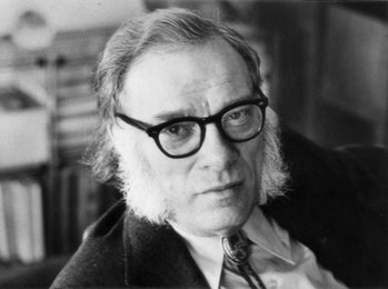 Portrait of the american biochemist and writer Isaac Asimov. USA, 1970s (Photo by Mondadori via Gett...