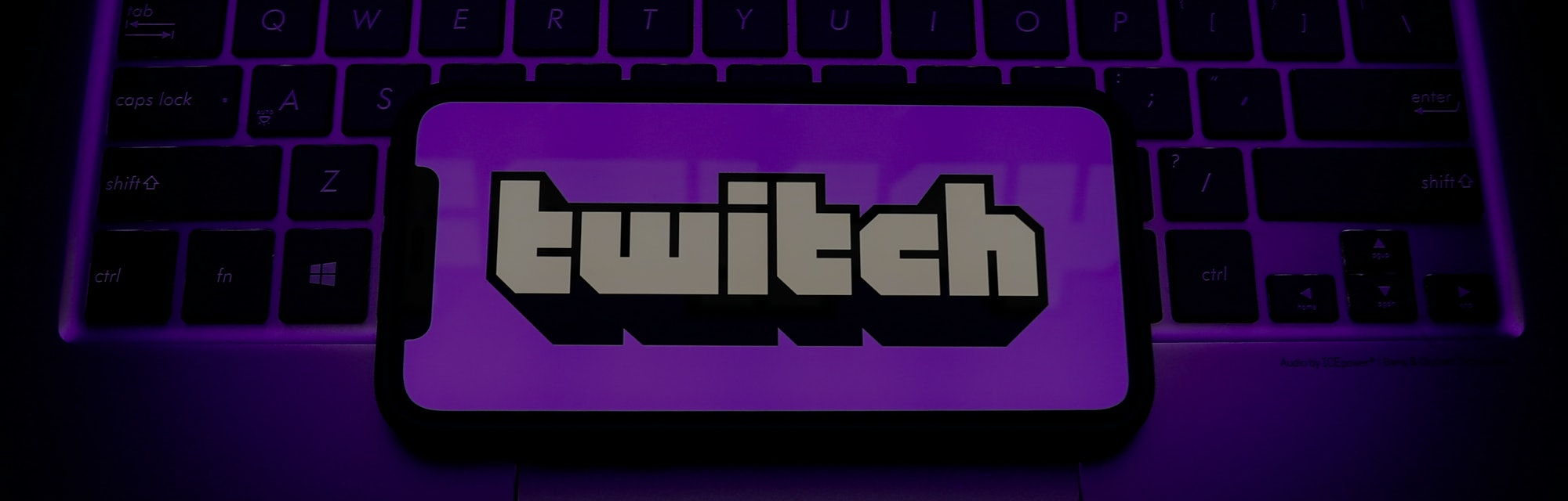 Twitch logo is seen displayed on a phone screen in this illustration photo taken in Krakow, Poland o...