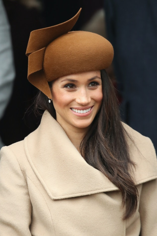 Meghan Markle wore a camel coat for Christmas with the royals.