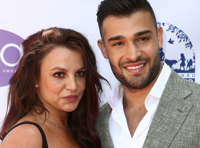 Britney Spears and Sam Asghari attend the 2019 Daytime Beauty Awards in Los Angeles. Asghari has sin...