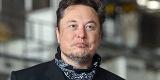 13 August 2021, Brandenburg, Grünheide: Elon Musk, Tesla CEO, stands in the foundry of the Tesla Gig...