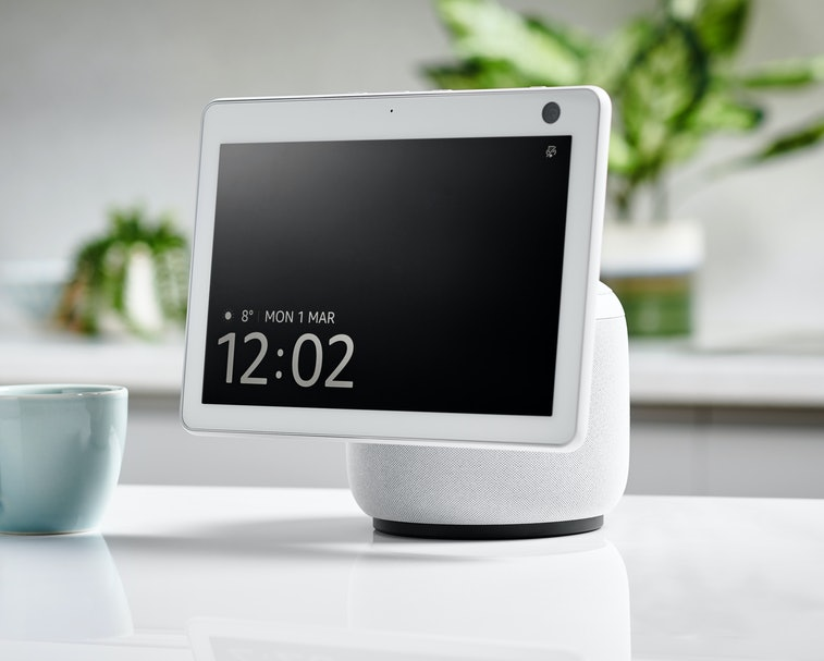 An Amazon Echo Show 10 (3rd generation) smart display and multimedia speaker, taken on March 1, 2021...