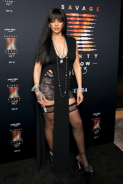 NEW YORK, NEW YORK - SEPTEMBER 22: Rihanna attends the premiere of Rihanna's Savage X Fenty Show Vol...
