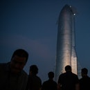 BOCA CHICA, TX - SEPTEMBER 28: A prototype of SpaceXs Starship is pictured at the company's Texas la...