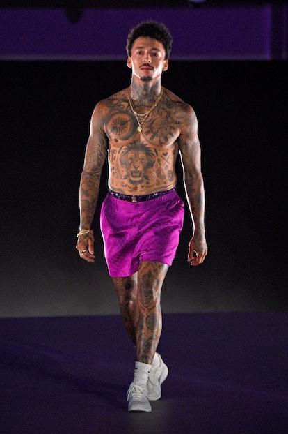 LOS ANGELES, CALIFORNIA - SEPTEMBER 23: In this image released on September 23, Nyjah Huston is seen...