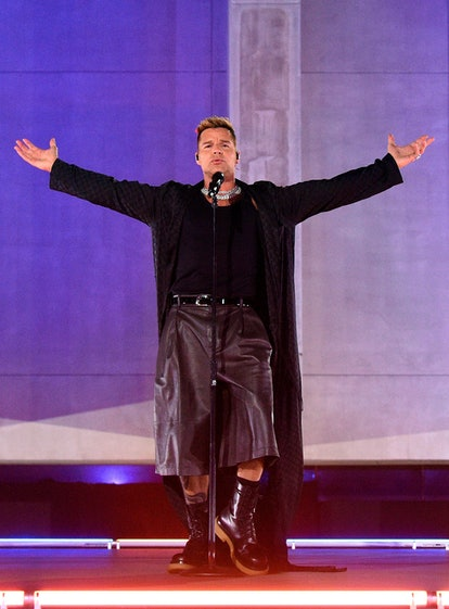 LOS ANGELES, CALIFORNIA - SEPTEMBER 23: In this image released on September 23, Ricky Martin perform...