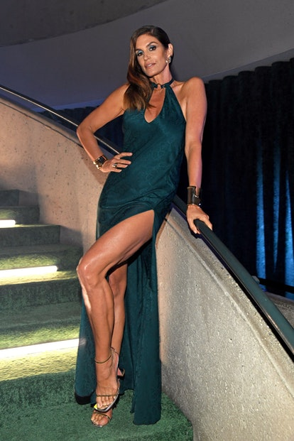 LOS ANGELES, CALIFORNIA - SEPTEMBER 23: In this image released on September 23, Cindy Crawford is se...