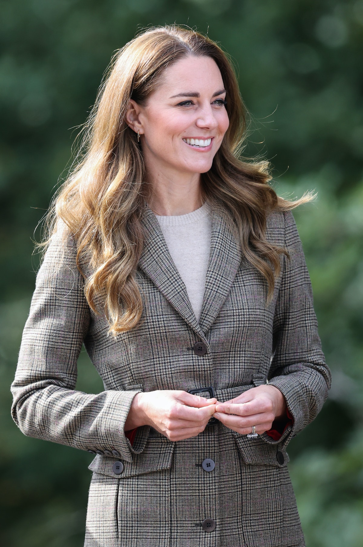 Duchess of Cambridge Kate Middleton arrives to embark on a boat trip on Lake Windermereon September ...