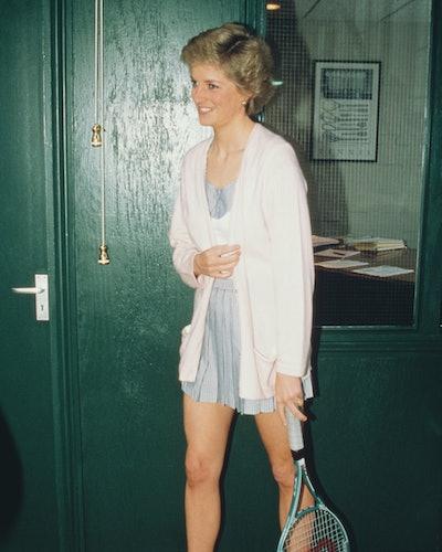 Diana, Princess of Wales  (1961 - 1997) opens the Women's International Tennis Association European ...