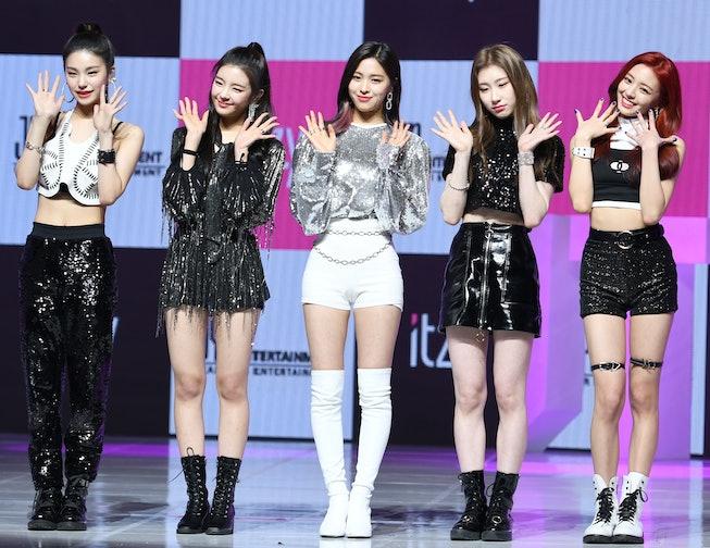 SEOUL, SOUTH KOREA - FEBRUARY 12: ITZY attends ITZY's Digital Single 'ITz Different' Release Showcas...