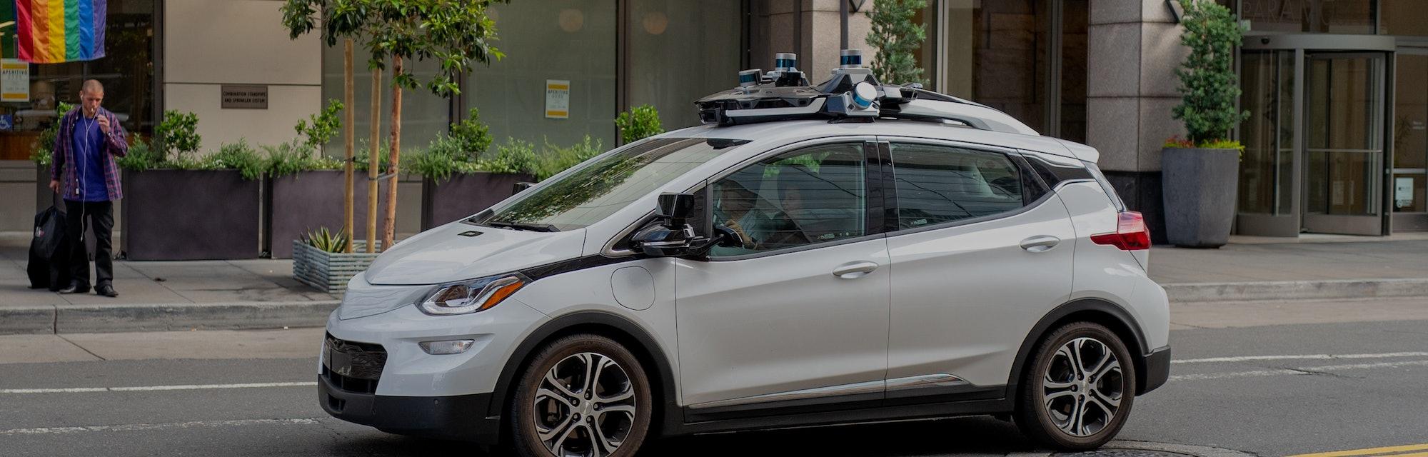 A Cruise Chevrolet Bolt experimental self-driving car from automaker General Motors and autonomous c...