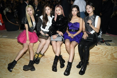 PARIS, FRANCE - OCTOBER 01: K pop band Itzy attend the Louis Vuitton Womenswear Spring/Summer 2020 s...