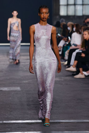MILANO, ITALY – SEPTEMBER 24: A model walks the runway during the Missoni fashion show during Milan ...