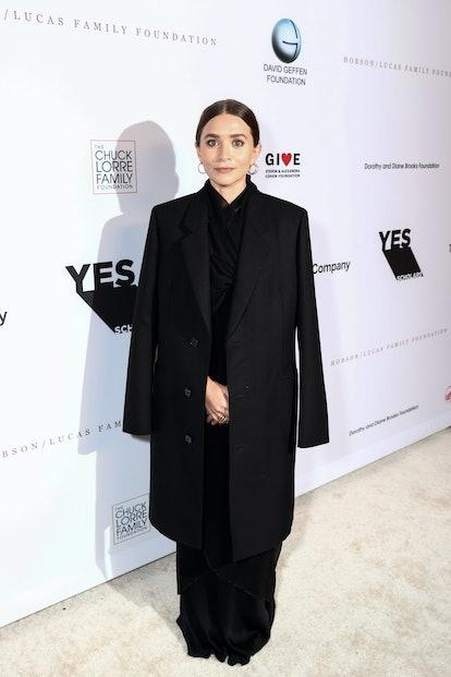 LOS ANGELES, CALIFORNIA - SEPTEMBER 23: Ashley Olsen attends the YES 20th Anniversary Gala on Septem...