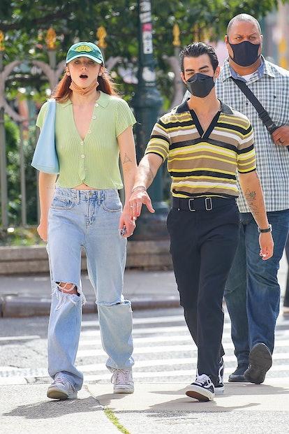 NEW YORK CITY, NY - SEPTEMBER 21: Sophie Turner and Joe Jonas are seen on September 21, 2021 in New ...