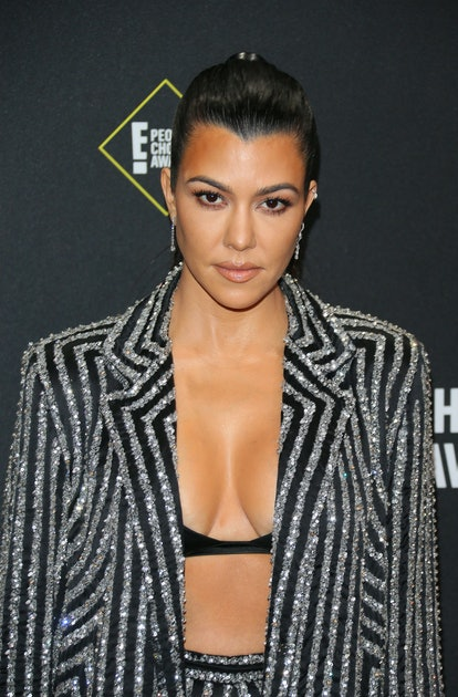 Business woman/media personality Kourtney Kardashian arrives for the 45th annual E! People's Choice ...