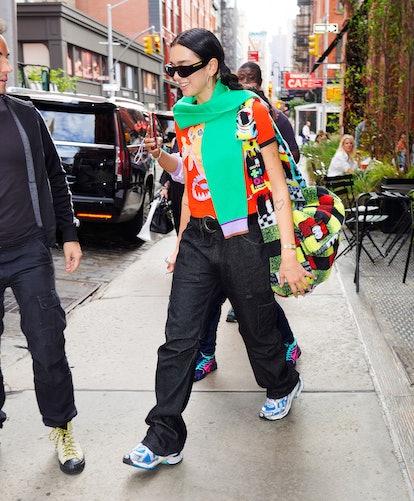 NEW YORK, NEW YORK - SEPTEMBER 22: Dua Lipa is seen on September 22, 2021 in New York City. (Photo b...