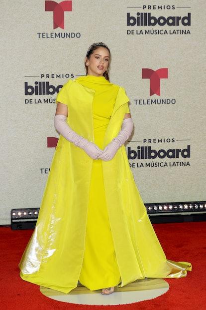 CORAL GABLES, FLORIDA - SEPTEMBER 23: Rosalía attends the 2021 Billboard Latin Music Awards at Watsc...