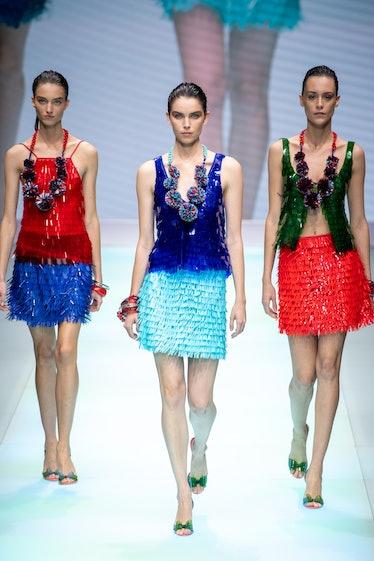 Emporio Armani fashion show for Milan Fashion Week Women's Collection Spring Summer 2022 Collection....