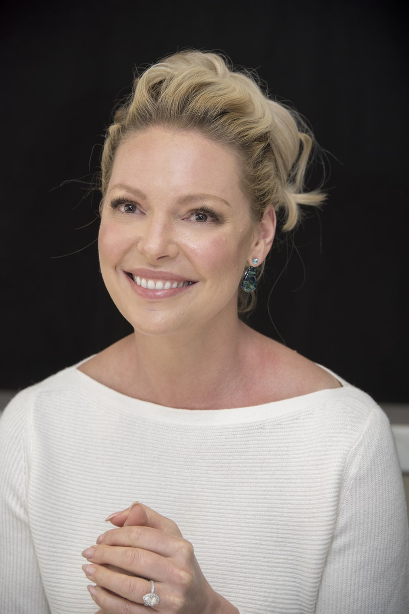 """NEW YORK, NY - JULY 13:  Katherine Heigl at the """"Suits"""" Press Conference at the Langham Hotel on Jul..."""