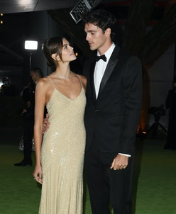 Kaia Gerber and Jacob Elordi attend The Academy Museum Of Motion Pictures Opening Gala at Academy Mu...