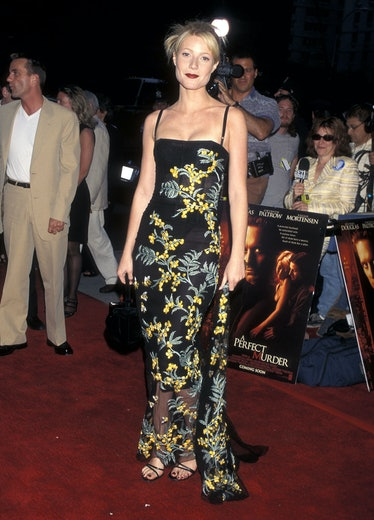 """Actress Gwyneth Paltrow attends """"A Perfect Murder"""" New York City Premiere on June 1, 1998 at the Son..."""