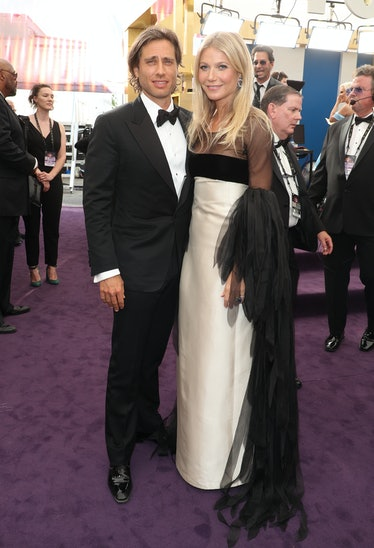 LOS ANGELES, CA - SEPTEMBER 22: Brad Falchuk and Gwyneth Paltrow attend FOXS LIVE EMMY RED CARPET AR...